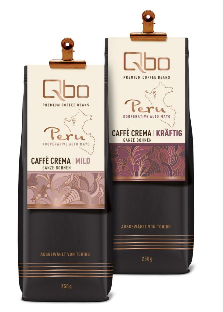 Premium Caffè Crema von Qbo in zwei individuellen Röstungen